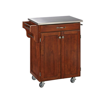 Home Styles Create-A-Cart Cherry Base w/ Stainlss Top Sm