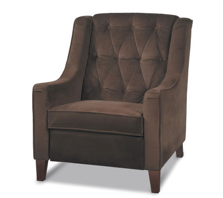Avenue Six Curves Tufted Chair - Chocolate