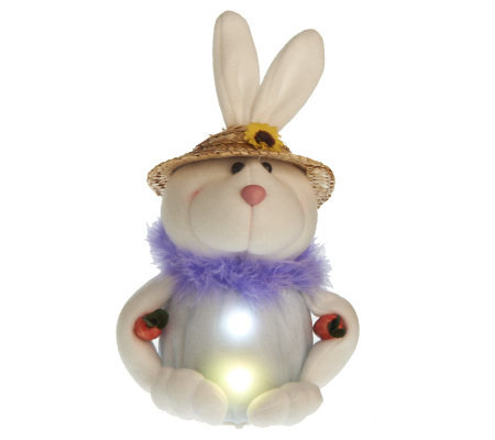 BethlehemLights BatteryOperated Baby Bunny with Timer