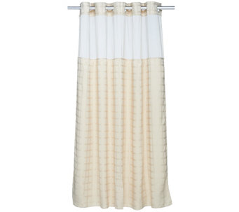 Hookless Square Tile Jacquard 3 in 1 Shower Curtain - H205645