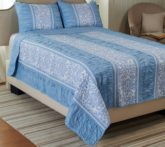 Girardot 100% Cotton Twin Reversible Quilt Set - H205845