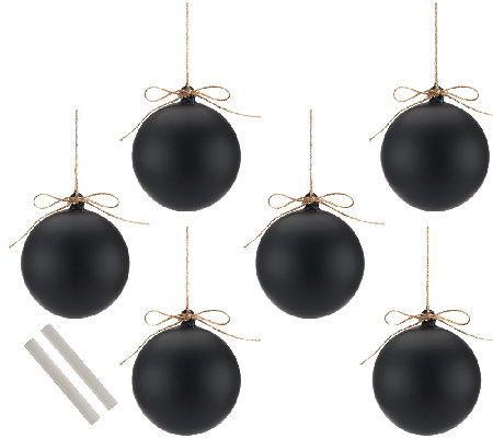 ED On Air Set of 6 Chalkboard Ornaments by Ellen DeGeneres