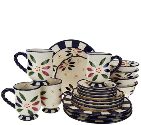 """As Is"" Temp-tations 20 piece Old World Service for 4 Dinnerware Set"