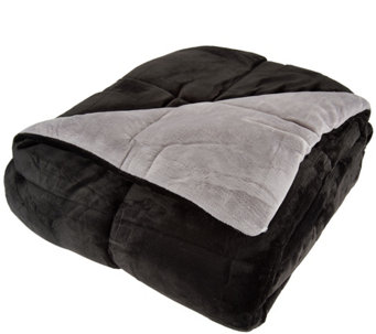 Berkshire Blanket Full Reversible Solid Color Filled Blanket - H209045