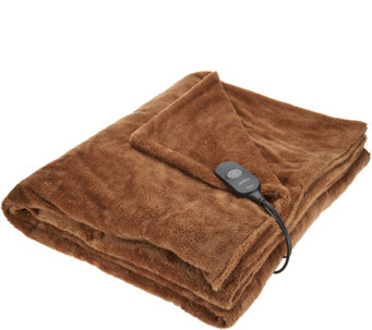 "Sunbeam Arctic Plush Mega Oversized 50"" x 84"" Heated Throw - H209545"