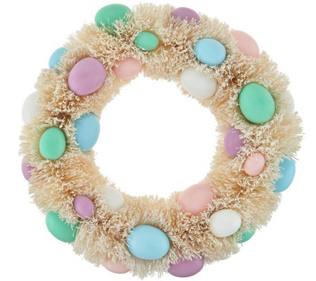 "12"" Easter Egg Bottlebrush Wreath by Valerie"