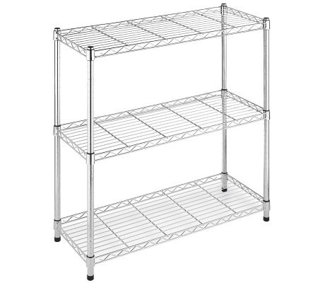 Whitmor Supreme Wide Three-Tier Shelving