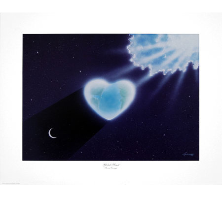 Global Heart Print by Artist of Hope, Steven Lavaggi