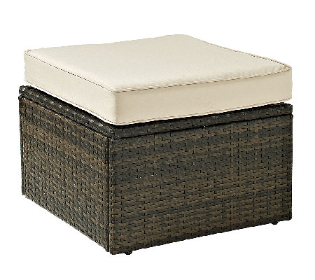 Crosley Palm Harbor Outdoor Wicker Ottoman