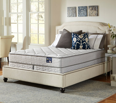 Serta Glisten Plush King Mattress Set
