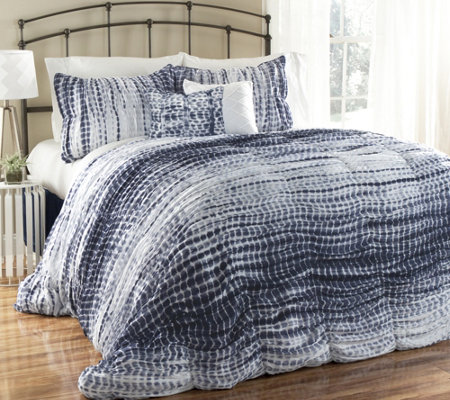 Pebble Creek King Duvet Cover & Shams Set by Lush Decor
