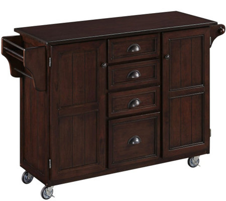 Home Styles Traditional Kitchen Cart with WoodTop