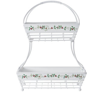 Pfaltzgraff Winterberry Two-Tier Flat-Back Bask et - H289945