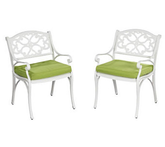 Home Styles Biscayne Outdoor Arm Chair Pair w/Cushion - H358345
