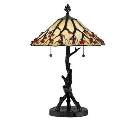 "Whispering Wood Collection 25"" Table Lamp"