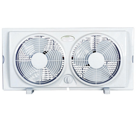 "Optimus 7"" Twin Window Fan"