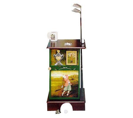 Powell Golf Motif Accent Cabinet — QVC.com