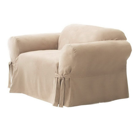 Sure Fit Soft Suede Box-Cushion Chair Slipcover