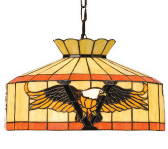 "Tiffany Style 16""W Victory Eagle Swag Pendant Light - H181246"