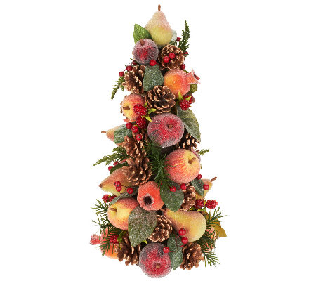 Beaded Fruit Tree with Pinecones, Berries, and Eucalyptus