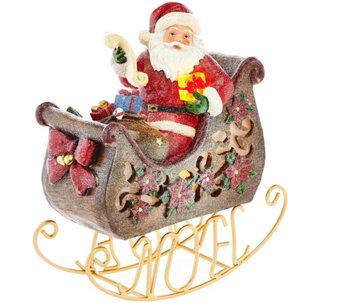 Kringle Express Rocking & Jingling Santa or Snowman Luminary - H208546