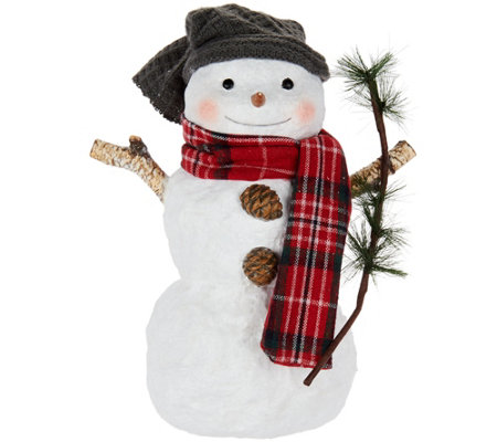 Hallmark Snowman Figurine with Twig Accent