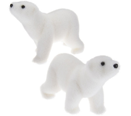 Set of 2 Baby Polar Bear Cubs