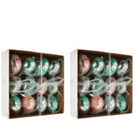 Set of 2 Boxes of Metallic Foil Eggs by Valerie