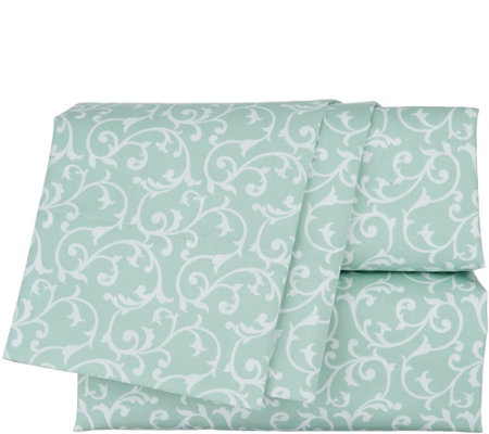 """As Is"" Northern Nights 400TC Cotton Wrinkle Defense Sheet Set"