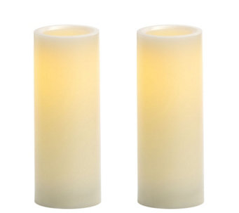 "Candle Impressions S/2 8"" Flameless Pillar Candles - H284646"