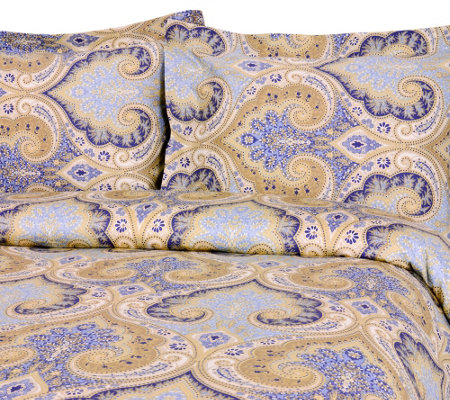 100% Cotton Milano Print Full/Queen Duvet Coverand Shams Set