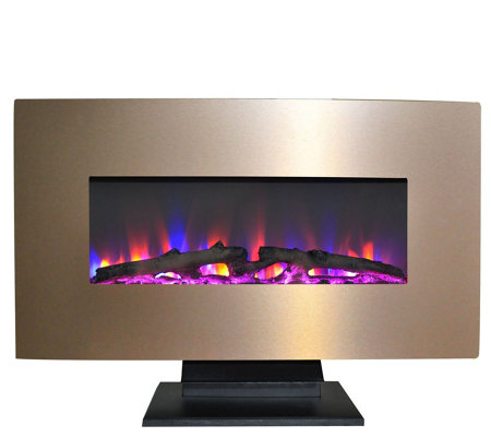"Cambridge 36"" Electric Fireplace w/ Color Log Display"