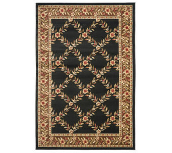 "Lyndhurst Open Floral Power Loomed 5'3"" x 7'6""Rug - H356846"