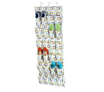Honey-Can-Do 24-Pocket Over-the-Door Shoe Organizer-Multicolor - H356946