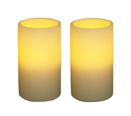 "S/2 Pacific Accents 3"" x 5"" Indoor/Outdoor Flameless Candles"