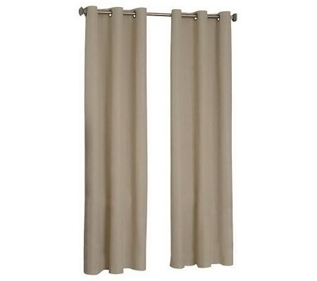 "Eclipse 42"" x 63"" Microfiber Grommet Blackout Curtain Panel"