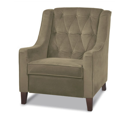 Avenue Six Curves Tufted Chair - Coffee