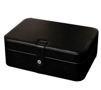 "Mele & Co. ""Lila"" Forty-Eight Section Jewelry Box in Black - H188147"