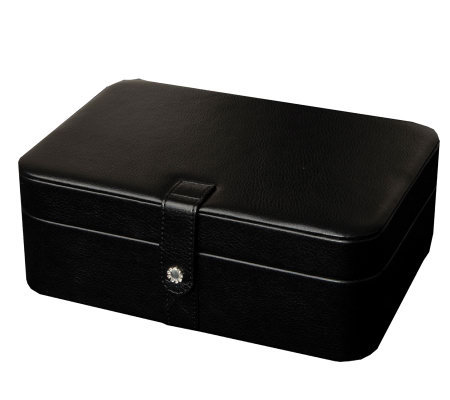 "Mele & Co. ""Lila"" Forty-Eight Section Jewelry Box in Black"