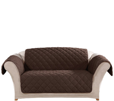 Sure Fit Microfleece Loveseat Furniture Cover