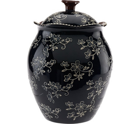 "Temp-tations Floral Lace 9"" Cookie Jar"