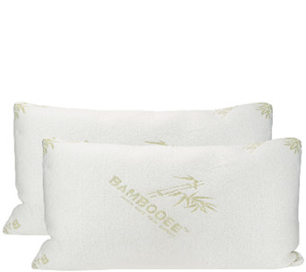 """As Is"" S/2 King Memory Foam Pillows w/ Rayon made from Bamboo - H208147"