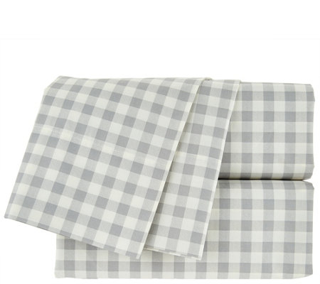 Isaac Mizrahi Live! Home 100% Cotton Gingham Full Sheet Set