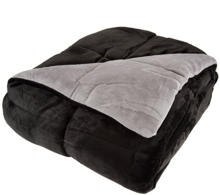 Berkshire Blanket King Reversible Solid Color Filled Blanket