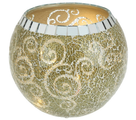 """As Is"" Mosaic Bowl with Micro Lights by Valerie"