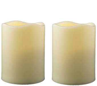 "Pacific Accents Set of 2 Melted Resin 3"" x 3-3/4"" Candles - H287947"