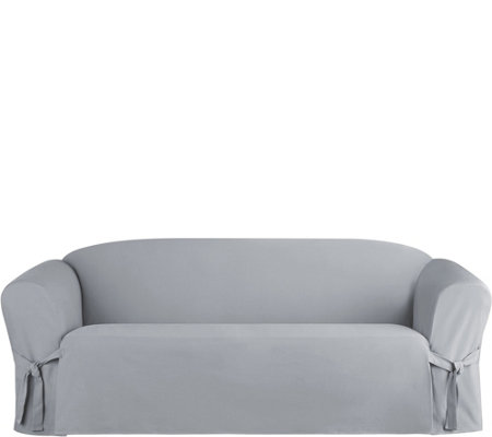 Sure Fit Heavyweight Cotton Duck Sofa Slip Cover