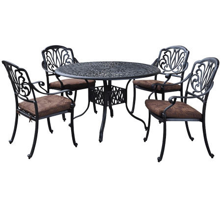Home Styles Floral Blossom 5-Piece Dining Set with Chairs