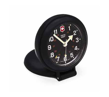 Swiss Army Brands Travel Alarm Clock Black