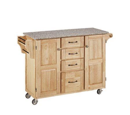 Home Styles Large Create a Cart - Natural w/Grate Top